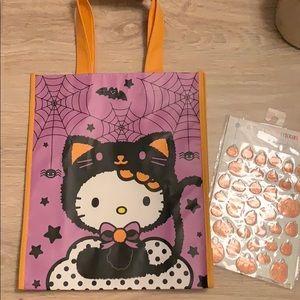 Halloween Hello Kitty tote bag
